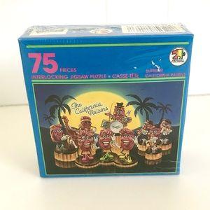 Vintage California Raisins 1980's puzzle NWT
